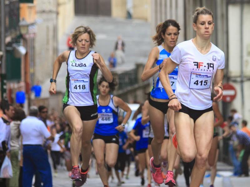 """Ayrton Azcue y Ana Gayarre ganaron la """"Carrera del Encierro"""" el año pasado"""
