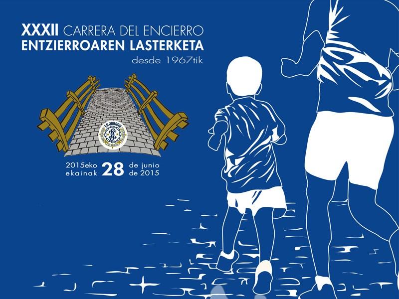 """Cartel de la """"Carrera del Encierro 2015″"""